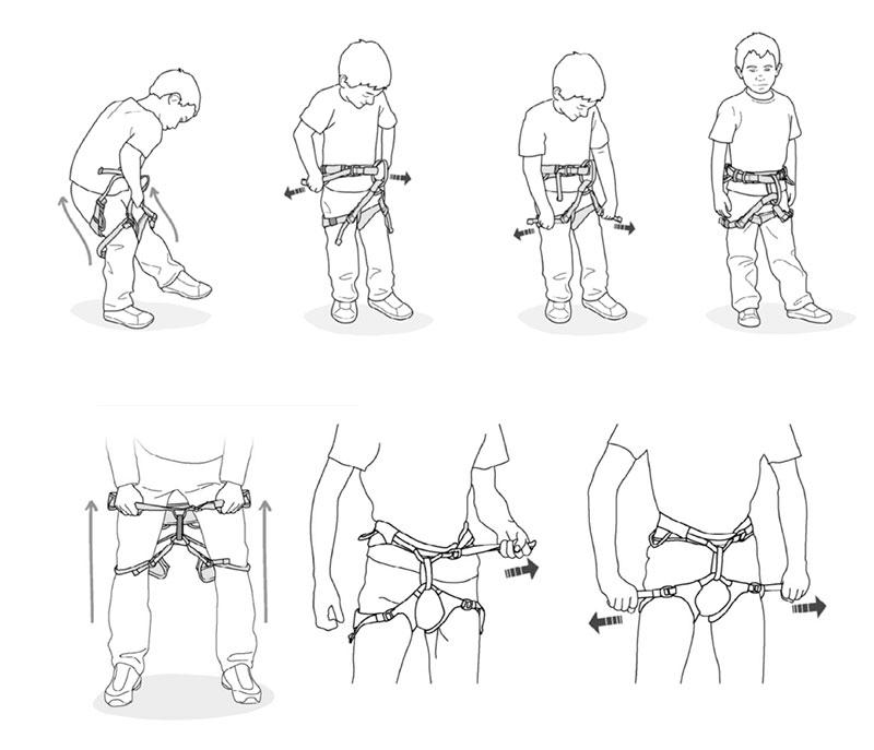 Как правильно одеть страховка на верёвочном городке